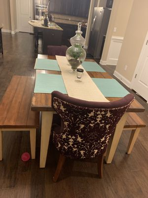 5 Piece Farm Table Dinning Set for Sale in Wake Forest, NC
