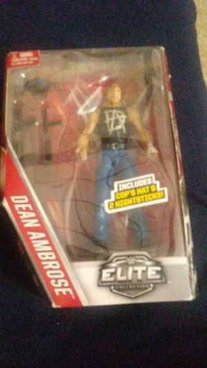 Dean Ambrose WWE collectible figure with a hat and two nightsticks for Sale in White Plains, NY