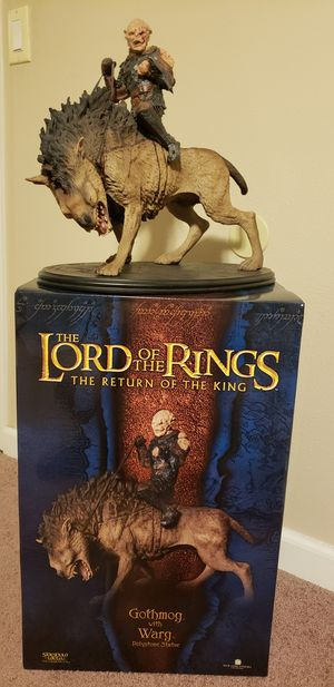 Gothmog on Warg Polystone Statue, LOTR, Sideshow Weta Collectibles, The Lord of the Rings for Sale in Los Angeles, CA