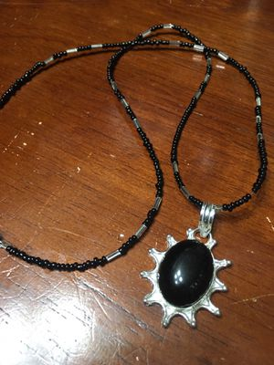 #5 Black Stone and Sterling Silver necklace for Sale in Spanaway, WA