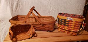 """""""Longaberger"""" collector Handwoven Baskets for Sale in Tacoma, WA"""