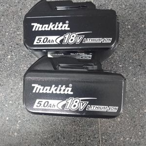 Two Brand New Makita 5ah 18 Volt Batteries $100 Firm If Ad Is Up It's Still Available for Sale in Seattle, WA