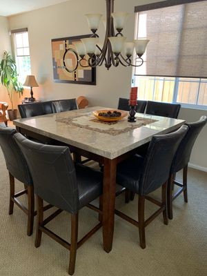 Dining set with marble table for Sale in Chula Vista, CA