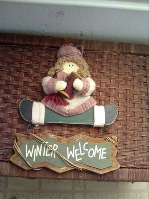 Winter Welcome hanging Sign for Sale in Turlock, CA