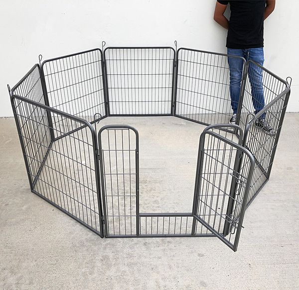 "$75 New in box Heavy Duty 32"" Tall x 32"" Wide x 8-Panel Pet Playpen Dog Crate Kennel Exercise Cage Fence"