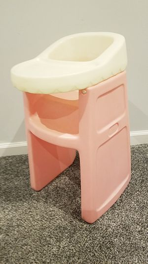 Vintage little tikes pink white doll highchair for Sale in Ellicott City, MD