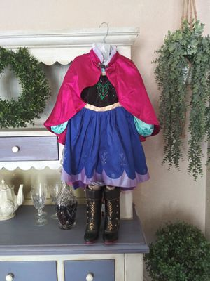 Frozen Anna costume dress and boots for Sale in Las Vegas, NV