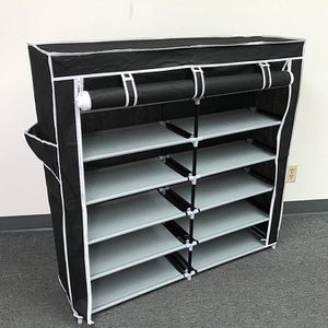 """(NEW) $25 each 6-Tiers 36 Shoe Rack Closet Fabric Cover Portable Storage Organizer Cabinet 43x12x43"""" for Sale in El Monte, CA"""