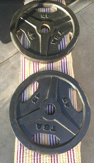 Olympic Weight Plates Easy Grip for Sale in Santa Ana, CA