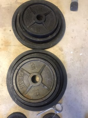 Pair of 25 Lbs Olympic weights plates for Sale in Centreville, VA