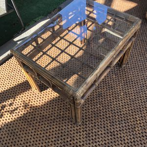 Vintage Rattan Bamboo Coffee Table for Sale in Los Angeles, CA
