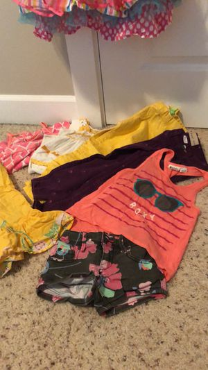 Designer girls fashion clothes- 8 pieces total- includes party dress and Roxy brand clothes for Sale in Salem, OR