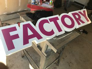 Factory sign for Sale in Fresno, CA