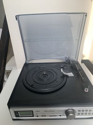 Turntable Record Player AM FM iPod MP3 Phone Bluetooth Play Stereo Speaker Radio for Sale in Zephyrhills, FL