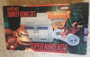Super Nintendo SNES Donkey Kong Console Set for Sale in Everett, WA