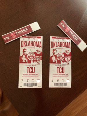 OU Vs. TCU NCAA: Football for Sale in Norman, OK