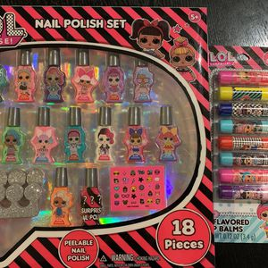 LOL SURPRISE! Nail Polish Set And Lip Balms for Sale in Claremont, CA