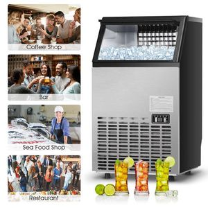 Goplus Built-In Stainless Steel Commercial Ice Maker 110Lbs/24H Portable Ice Machine Restaurant for Sale in San Gabriel, CA
