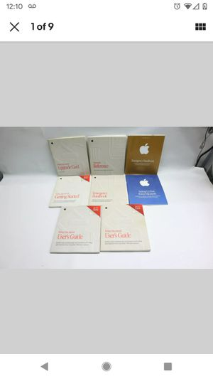 Lot Of 8 Vintage Apple Power Macintosh Computer Manuals Booklets Monitors Guides for Sale in Brockport, NY