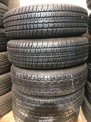 205 75 14 Used Trailer Tires Excellent Condition Installation 90% Tread for Sale in Glendale, AZ