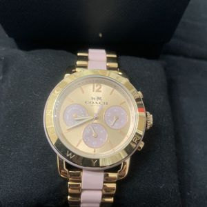 Coach Blush Pink Gold Analog Watch Authentic Gorgeous for Sale in Sterling, VA