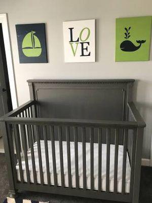 RH baby crib , toddler bed and RH organic mattress for Sale in Stone Ridge, VA