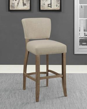 2 Brand New Grey / Oak bar Stools for Sale in Dallas, TX