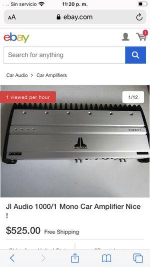 JL Audio Amplificador. Condiciones SemiNuevas solo Se Utilizó Menos de Una Cemana. for Sale in Riverside, CA