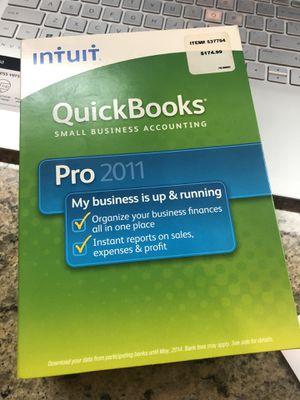 Quick Books Pro 2011 for Sale in Eastvale, CA