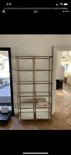 Amazing gold mirrored bookshelves for Sale in West Hollywood, CA