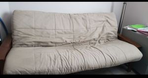 Sofa Couch Reclining to bed. Heavy Duty Metal Fraime. In Good condition, has couple rips on a pillow from moving it. for Sale in South Venice, FL