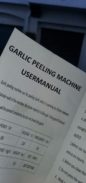 Commercial Grade Garlic Peeler for Sale in Ontario, CA