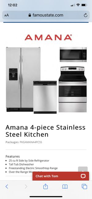 ISO used stainless kitchen appliance set Refrigerator Stove dishwasher for Sale in Spring Hill, FL