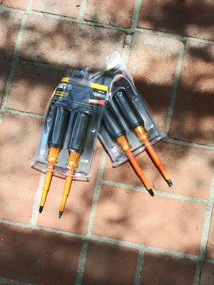 Klein Tools 💯 Insulated Screwdrivers $25 Each for Sale in San Bernardino, CA