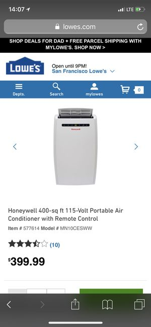 Honeywell 115-volt portable air conditioner for Sale in Oakland, CA