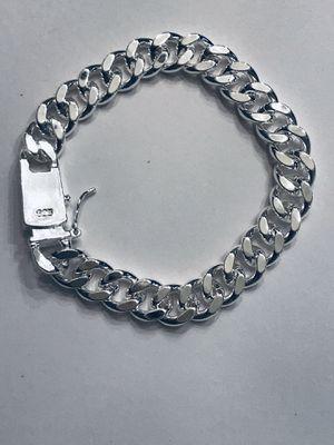 "925 silver Cuban link bracelet 8"" 10mm for Sale in Orlando, FL"