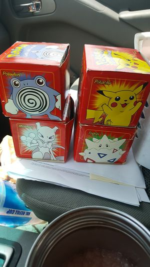 Limited edition Pokemon 23 karat gold plated trading cards all in their original packaging and not opened for Sale in Palm Harbor, FL