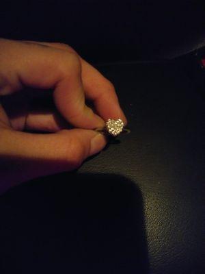 Diamond chip stearling silver ring for Sale in Santa Monica, CA