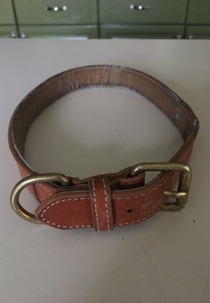 Leather dog collar —large for Sale in Lorton, VA