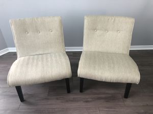 Beige Accent Chairs - Two for Sale in Orlando, FL