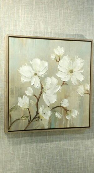 """Canvas Wall Art in Rustic Wood Frame , 17""""x17"""" *PICKUP ONLY* home decor, household, pictures, paintings, shabby chic, farmhouse for Sale in Mesa, AZ"""