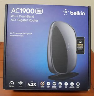 AC1900 AC 1900 Belkin Router Dual Band WiFi Gigabit Router for Sale in Anaheim, CA