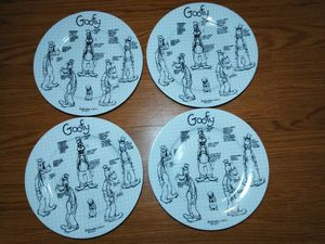 Goofy Disney Sketch Plates 4 New for Sale in Hazelwood, MO