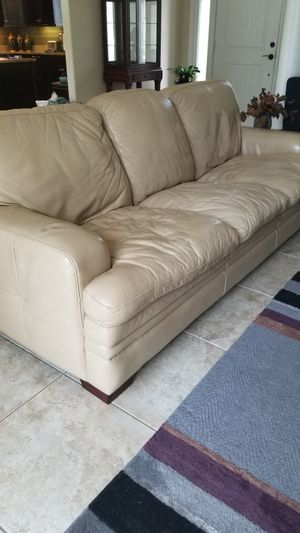 Leather couch 86inches for Sale in Melbourne, FL