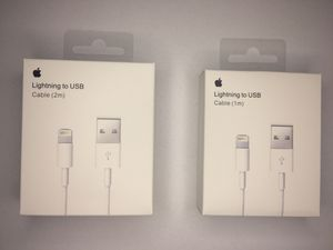 Genuine OEM Apple iPhone X 8 7 6S plus Lightning USB Cable Wall Charger 3FT/6FT for Sale in Miami, FL
