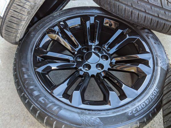 GMC Sierra 1500 Yukon Denali Wheels Tires P305 40R22 Rims 305 40 22