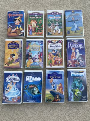 Disney VHS movies in very good condition if you still have a VCR! for Sale in Waddell, AZ