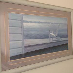 Picture framed dock And chair for Sale in Pompano Beach, FL