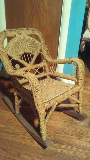 Antique French Braided Child's or Dolls Rocker for Sale in Rochester Hills, MI