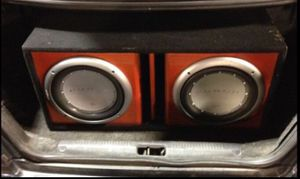 2 Rockford fosgate/punch subs and box for Sale in Chesapeake, VA